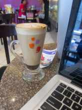 Cafe mocha from Cafe Coffee Day in Mumbai, India.