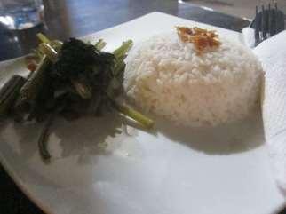 Rice in Gili Trawangan.