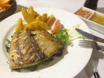 Grilled fish in Padang Bai, Bali.