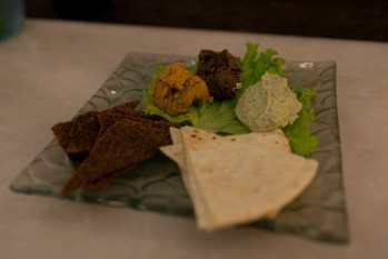 Hummus platter at Clear Cafe in Ubud, Bali.