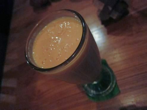 Papaya coconut cream smoothie in Ubud, Bali.