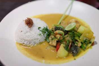 Seafood curry in Ubud, Bali.