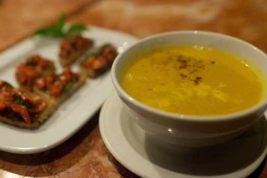 Pumpkin soup in El Nido, Philippines.