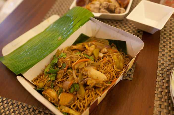 Noodles in Manila, Philippines.