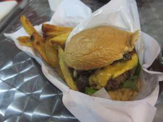 Hamburger in Manila, Philippines.