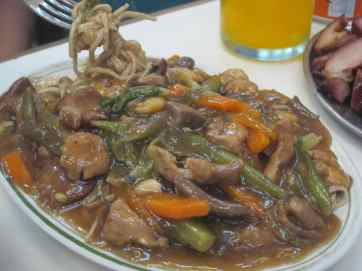 Chinese food in Manila, Philippines.