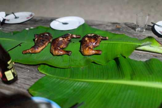 BBQ on Seven Commandos Beach in Palawan, Philippines.
