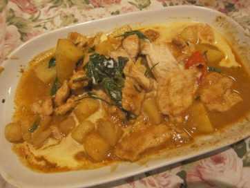 Stir fry chicken in Bangkok, Thailand.