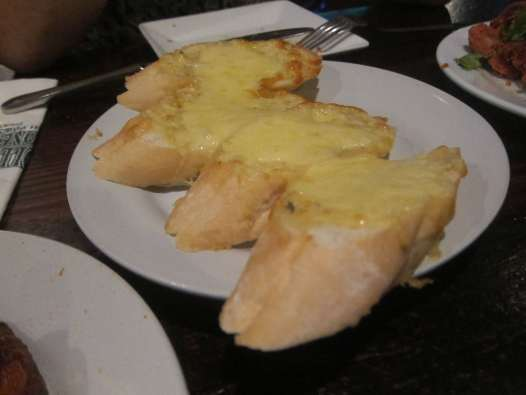 Garlic bread in Bangkok, Thailand.