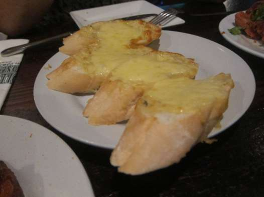 Garlic bread in Bangkok, Thailand.