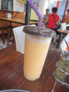 Mango shake in Chiang Mai, Thailand.