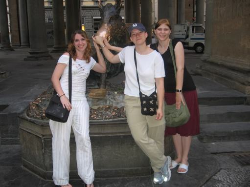 Rub the boar for luck in Florence, Italy