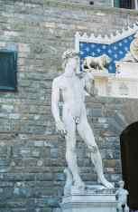 Fake David in Florence, Italy