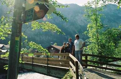 On a bridge in Interlaken, Switzerland