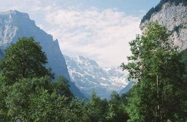 Mountains in Interlaken, Switzerland