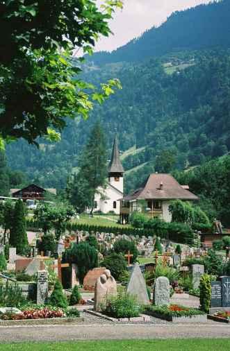Graveyard in Interlaken, Switzerland