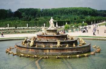 A fountain at Versailles in Paris, France
