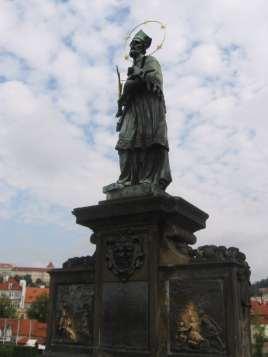 Rub the statue for good luck in Prague, Czech Republic