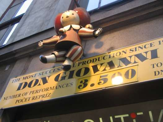 Don Giovanni – with puppets - in Prague, Czech Republic