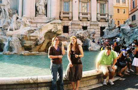 Isla and I make a wish at The Trevi Fountain in Rome, Italy