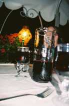 A carafe of wine in Venice, Italy