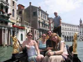 A gondola ride inVenice, Italy