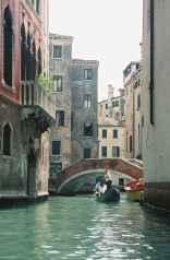 A sight from the gondola in Venice, Italy