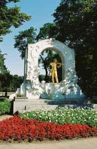 Strauss Monument in Vienna, Austria