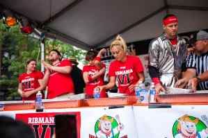 Preparing to eat - RibMania Ribs Eating Contest in Chicago