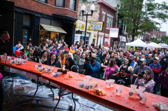 The crowd at RibMania Ribs Eating Contest in Chicago