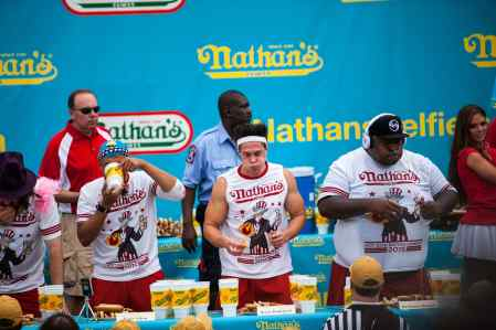 Men's Contest at the 2015 Nathan's Famous July 4 Hot Dog Eating Contest