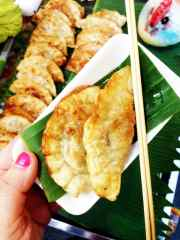 Pot stickers from a stall at Chiang Mai's Walking Street Sunday Market.