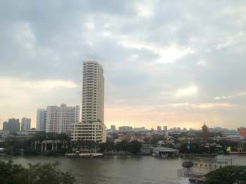 View of Bangkok from River Vibe Restaurant.