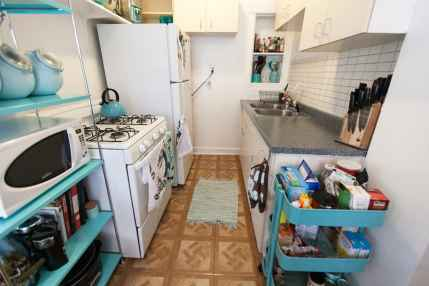 My totally teal kitchen.