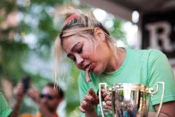 Miki Sudo | Ribmania Ribs Eating Contest at Ribfest Chicago