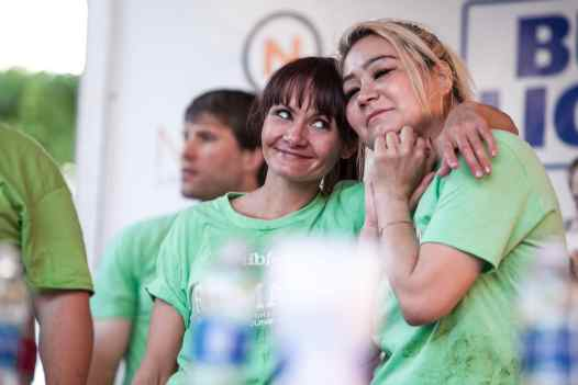 Michelle Lesco and Miki Sudo | Ribmania Ribs Eating Contest at Ribfest Chicago