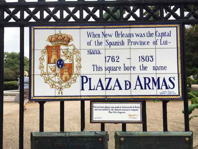Plaza d Armas in New Orleans.
