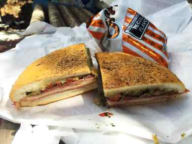 Muffuletta from Central Grocery in New Orleans.