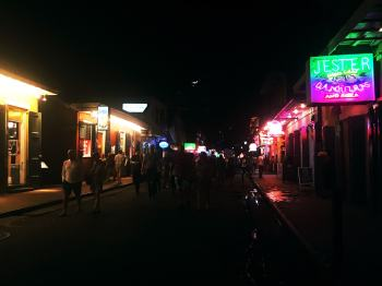 Bourbon Street in New Orleans.