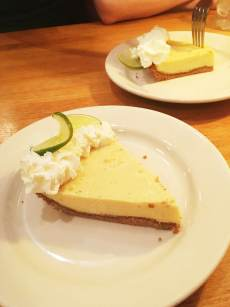 Key lime pie at 5 Spot Diner in Seattle, Washington.