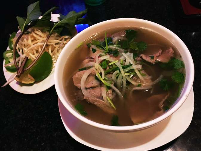 Steak and brisket pho from Pho Viet Anh in Seattle, Washington.