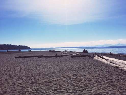 Beach at Carkeek Park in Seattle, Washington.