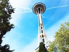 Space Needle in Seattle, Washington.