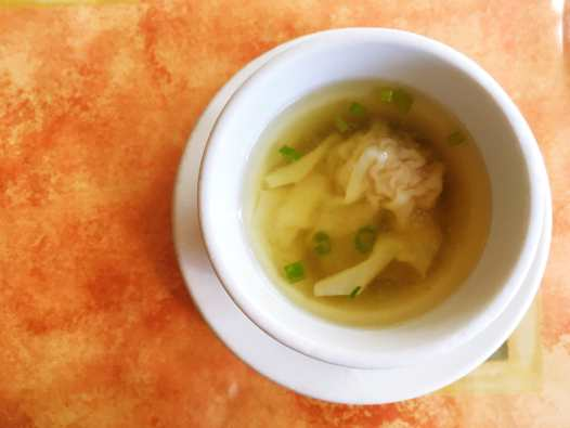 Wonton soup at Tup Tim Thai in Seattle, Washington.