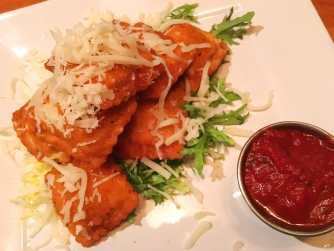 Fried ravioli at 13 Coins restaurant in Seattle, Washington.