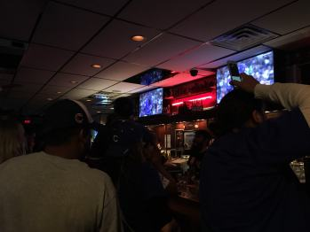 I made it to a bar in my neighborhood just in time for the last inning.