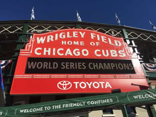Chicago Cubs World Series Champions - Wrigley Field