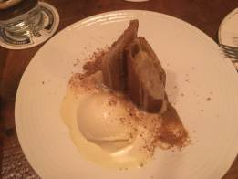 Birthday apple strudel at The Northman in Chicago.