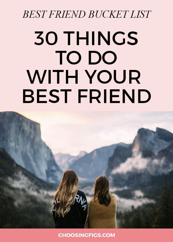 best friend bucket list