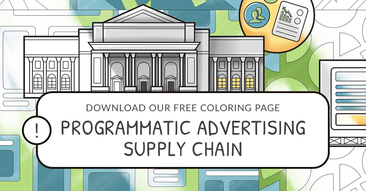Programmatic Advertising Supply Chain Printable Coloring Page Featured Image
